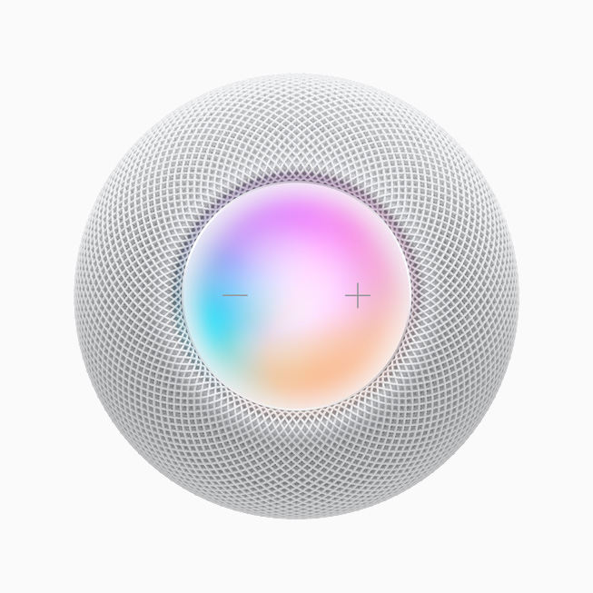 A top-down view of the touch surface on HomePod mini.