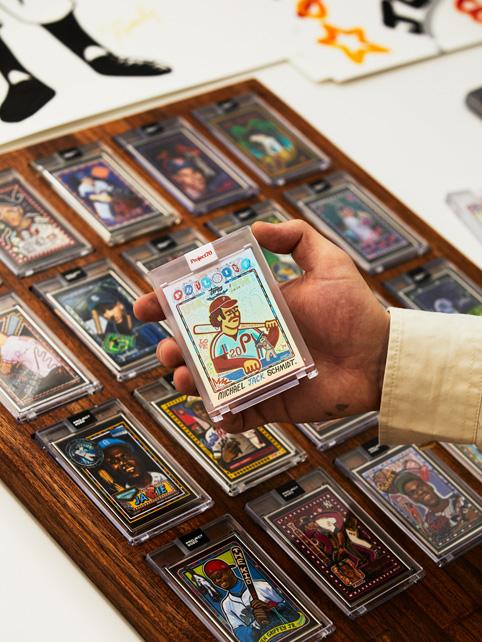 """Topps 2020 baseball cards designed by Eric """"Efdot"""" Friedensohn."""