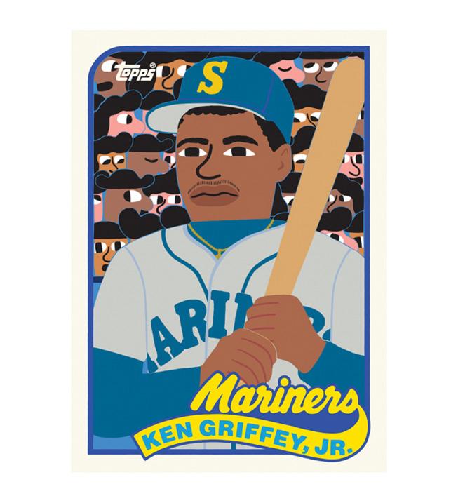 Artist Keith Shore's Ken Griffey Jr. baseball card.