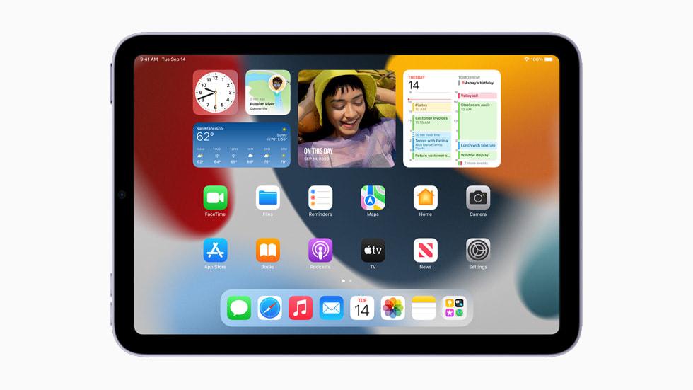 New HomeScreen widgets displayed on iPadmini.
