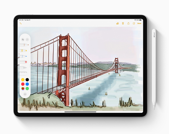 iPad with Apple Pencil.