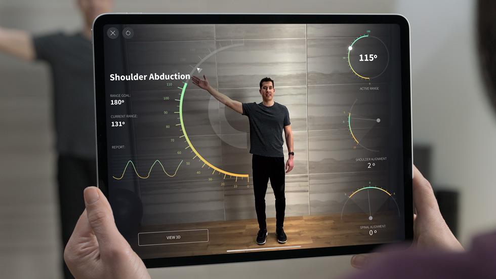 iPad Pro 上的 Complete Anatomy。