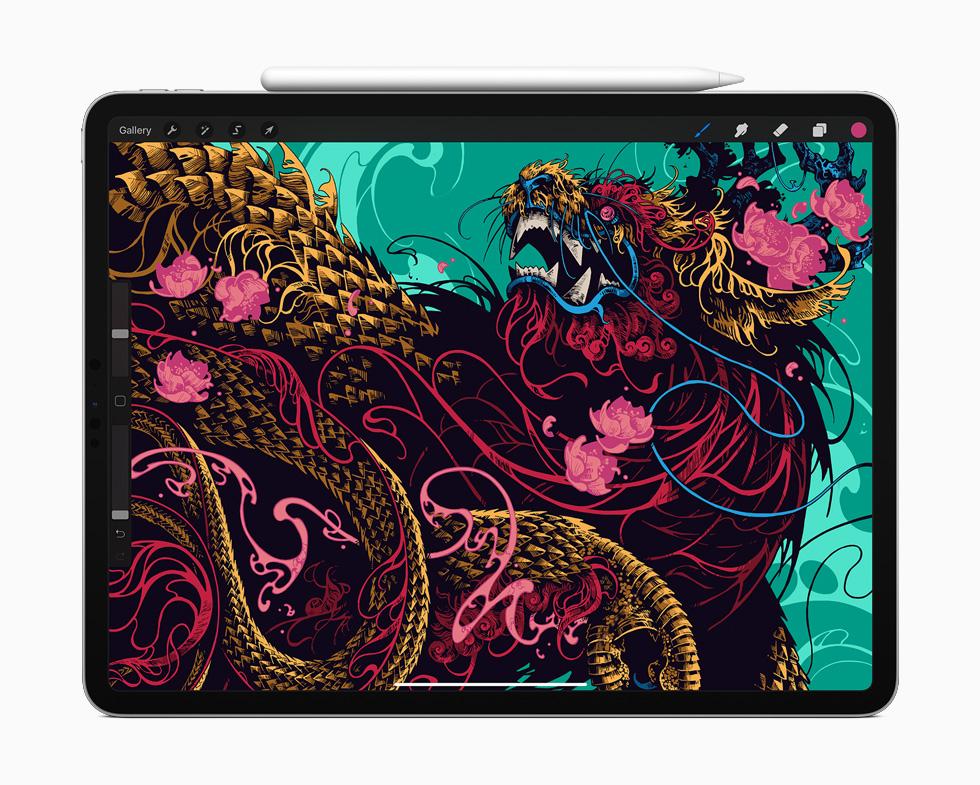 全新 iPad Pro 上的 Procreate。
