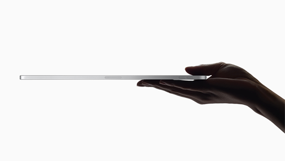 Perfil lateral de iPad Pro.