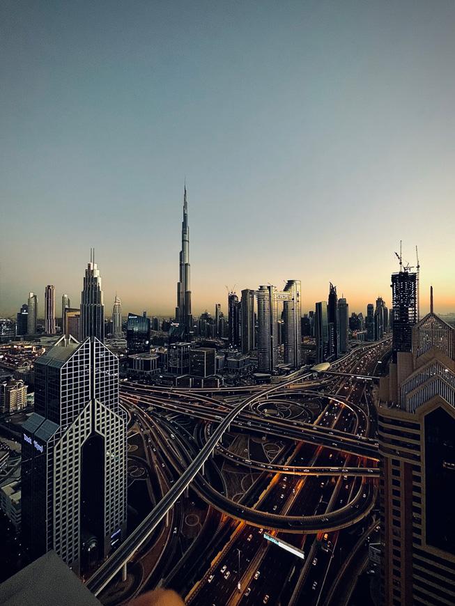 Skyline view of Dubai.