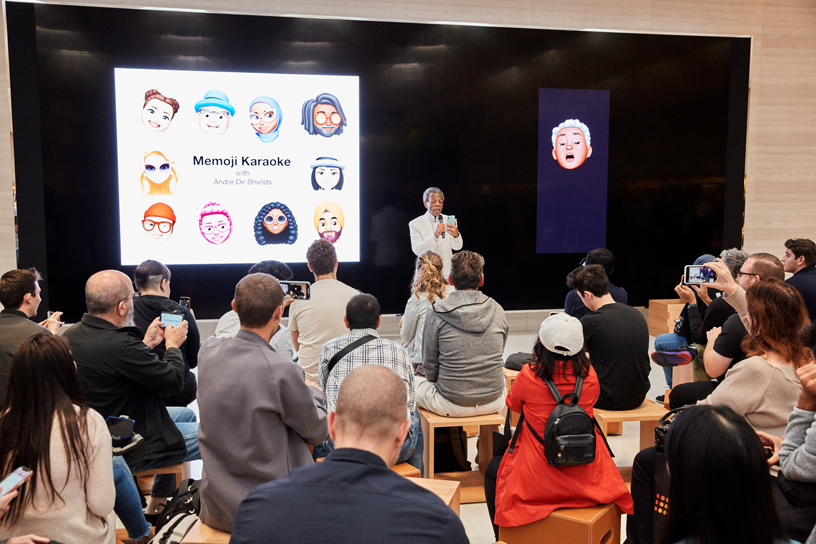 Eine Today at Apple-Session im Apple Fifth Avenue.