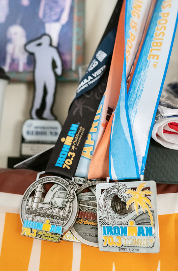 A collection of Scott Leason's medals.