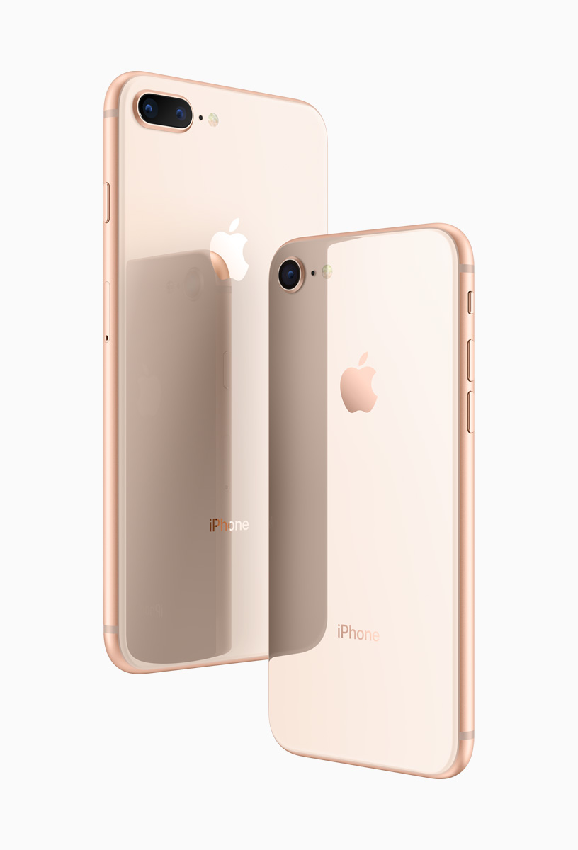 iphone 8 and iphone 8 plus represent a new generation of iphone in a beautiful all new glass design