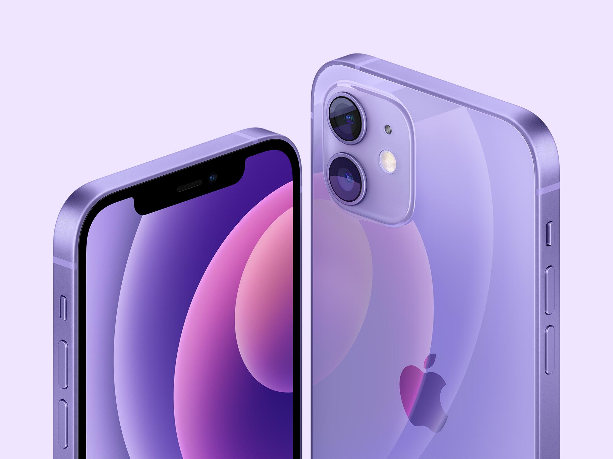 iPhone 12 dan 12 mini warna ungu