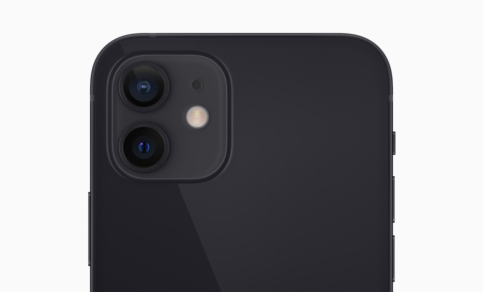 The dual-camera system on iPhone 12.