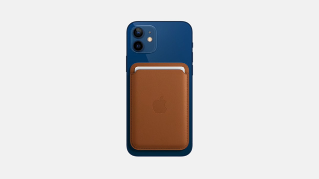 Кожаный чехол-бумажник MagSafe для iPhone.