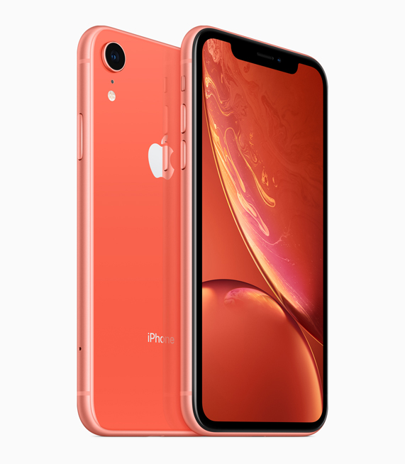 iPhone XR con acabado coral.