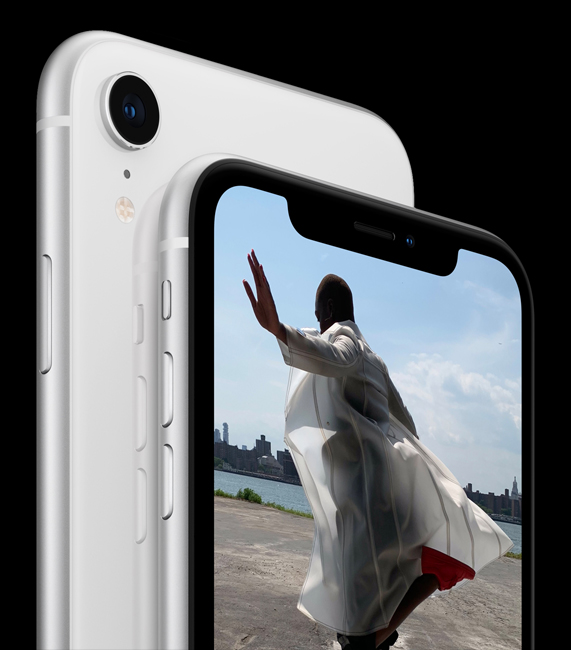 The iPhone XR features a 12MP f/1.8 aperture wide-angle lens camera.