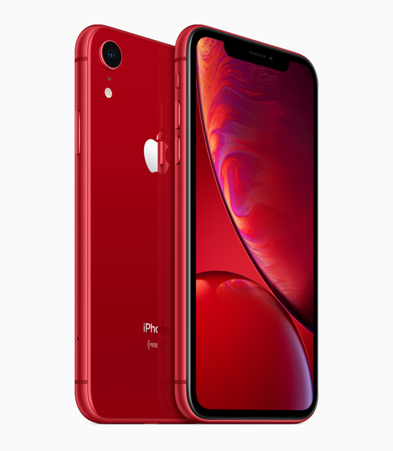 iPhone XR in (PRODUCT)RED.