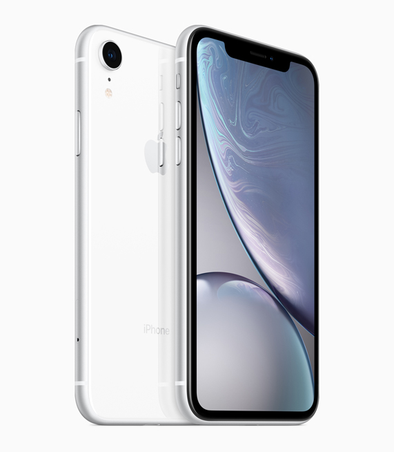 iPhone XR in Weiß.