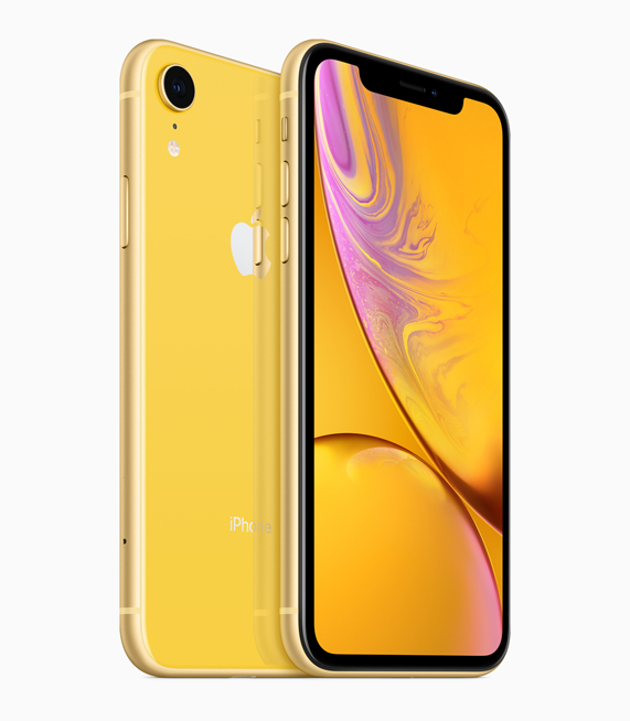 iPhone XR con acabado amarillo.