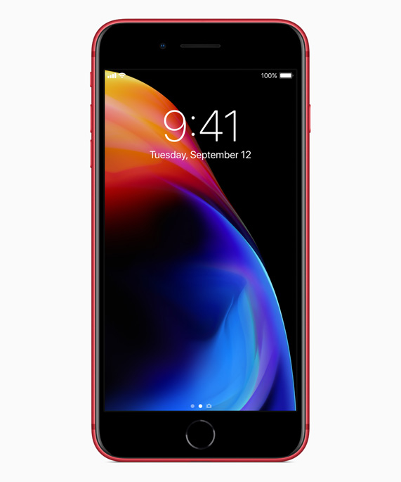 003f891f203030 Apple customers can purchase iPhone 8 and iPhone 8 Plus in a beautiful red  and black finish while contributing to the Global Fund to fight AIDS.