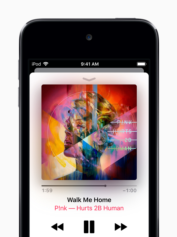 Apple Music on iPod touch.