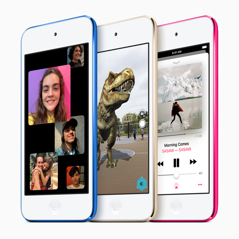 The new iPod touch family.