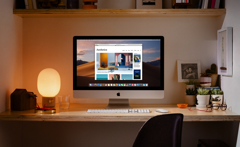 iMac in un home office.