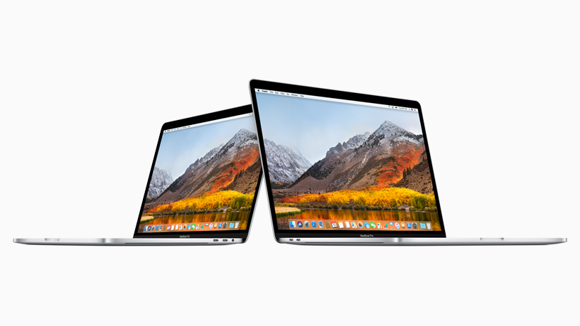 13-inch MacBook Pro next to 15-inch MacBook Pro.