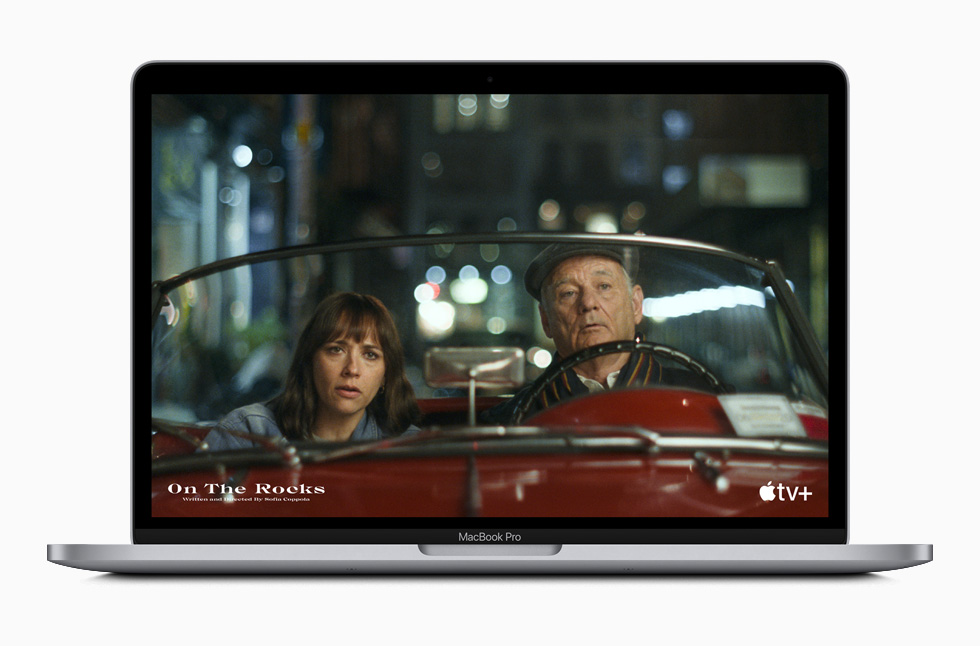"The movie ""On the Rocks"" displayed on MacBook Pro."