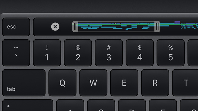 13 inç MacBook Pro'daki yeni Magic Keyboard.