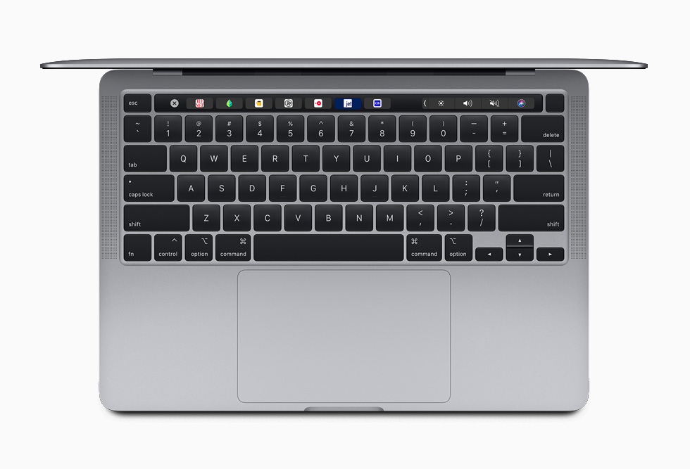 Magic Keyboard'a sahip 13 inç MacBook Pro.