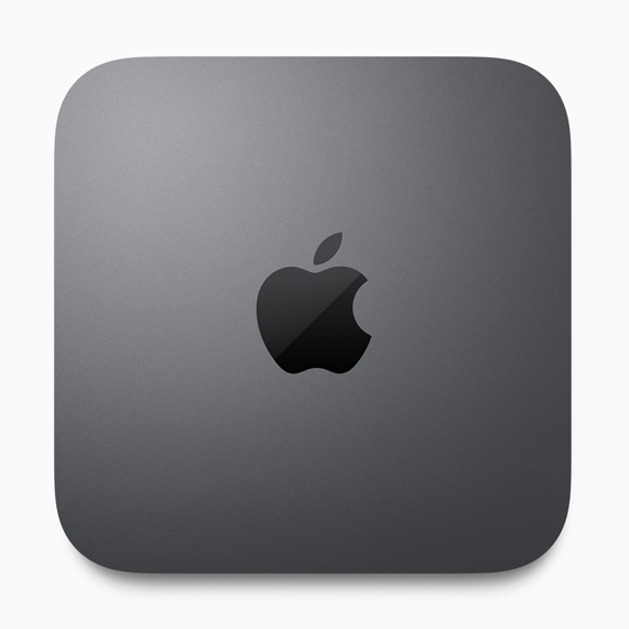 The new space gray Mac mini.