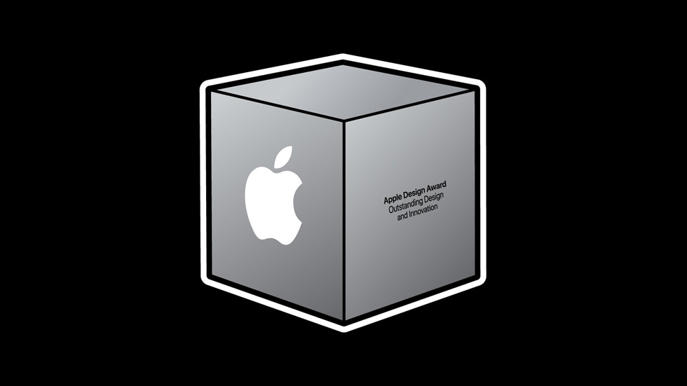 An image of the Apple Design Award trophy.