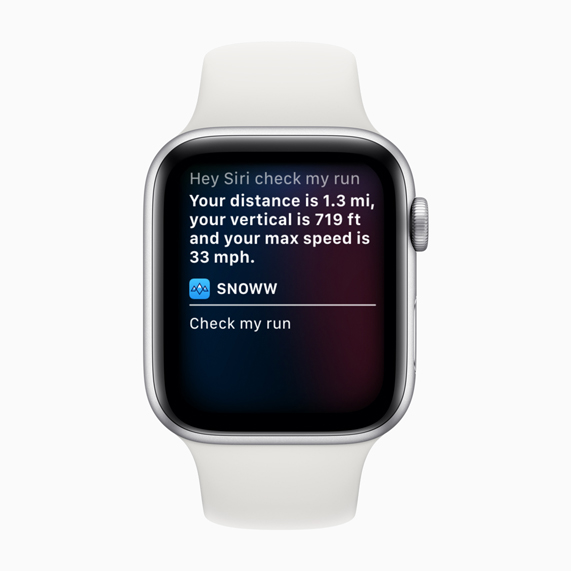 Snoww-genvejen på Apple Watch.