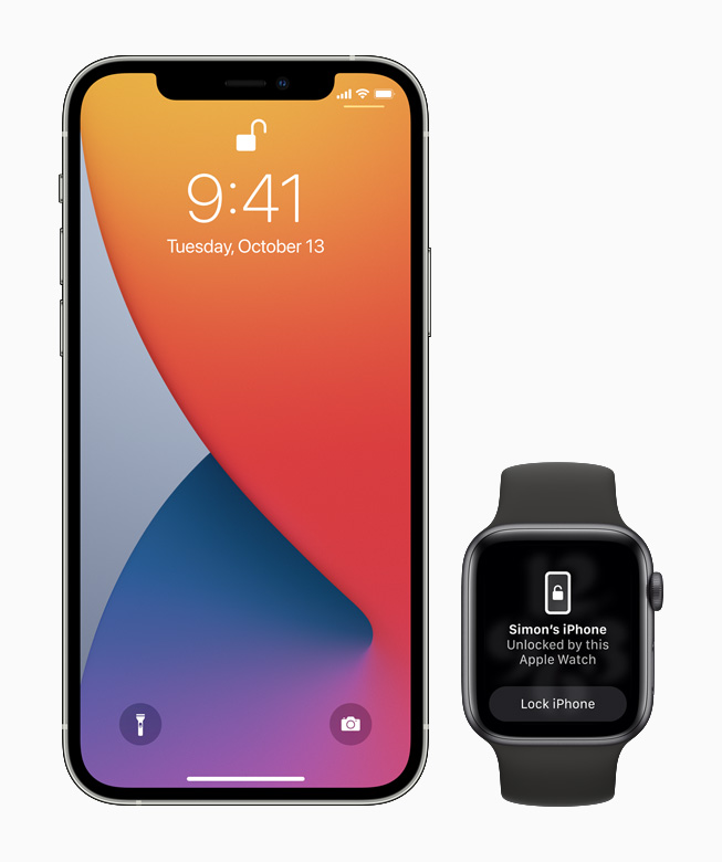 iPhone 12 Pro with Apple Watch.