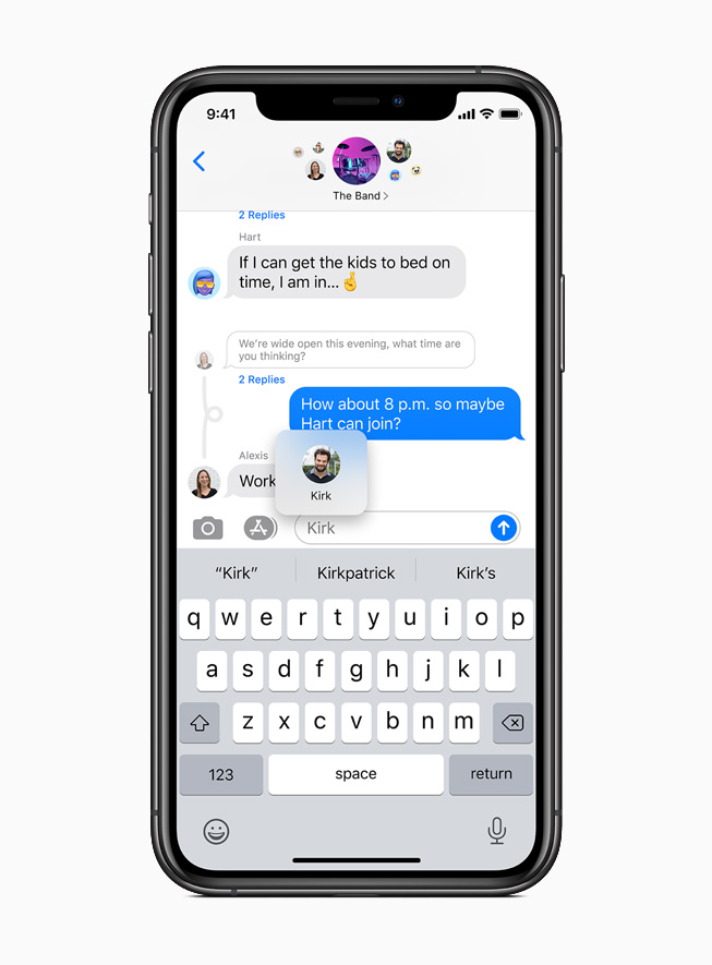 A direct reply in Messages displayed on iPhone 11 Pro.