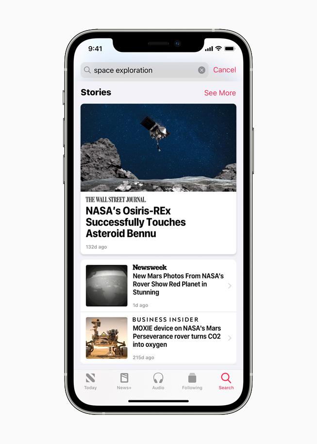 Apple News + en iOS 14.5 en iPhone 12 Pro.