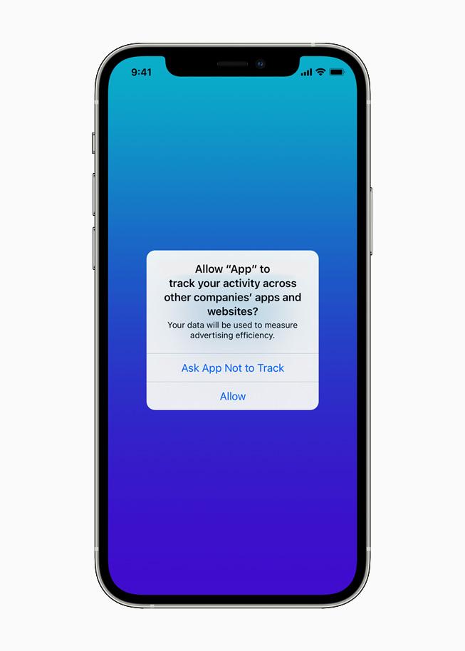 Tracking-App in iOS 14.5 auf dem iPhone 12 Pro.
