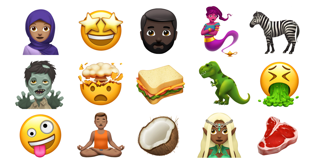 updated iphone emojis apple previews new emoji coming later this year apple 13202