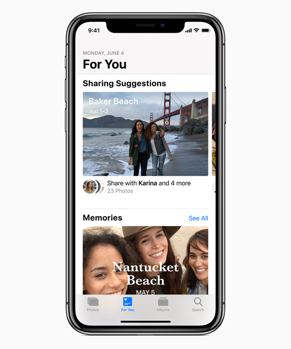 iPhone X showing Helena sharing photos from Williamsburg, May 20 on the Messages app.