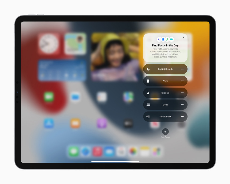 The new Focus feature displayed on iPad Pro.