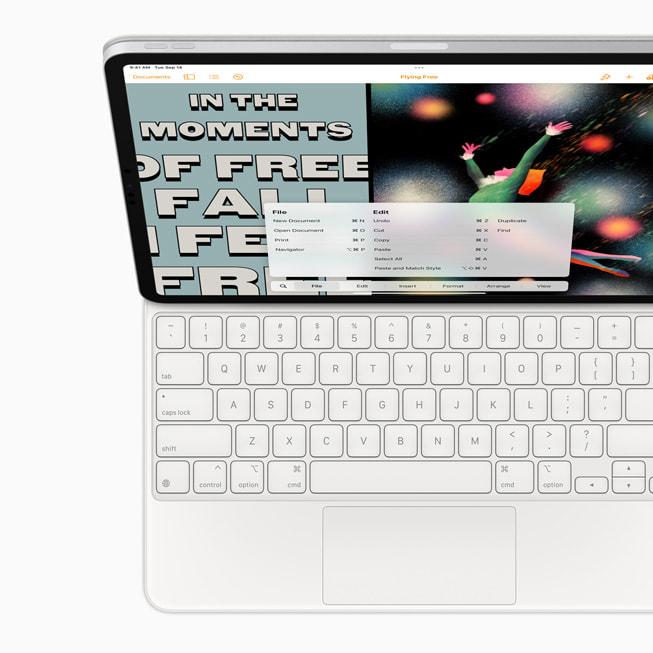 Keyboard shortcuts on iPad Pro.