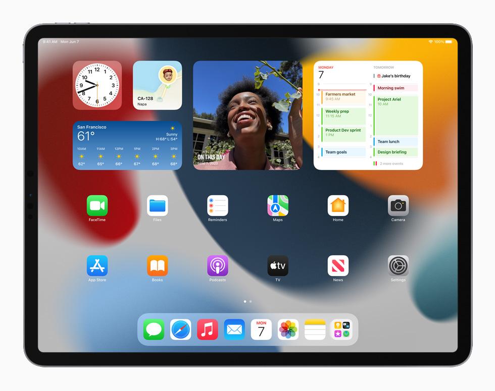 Widgets on iPad in iPadOS 15.