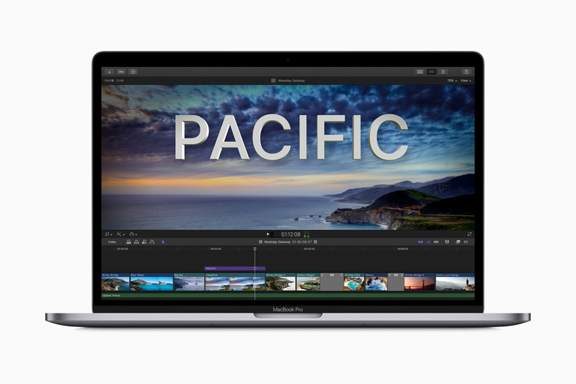 Final Cut Pro X on MacBook Pro.