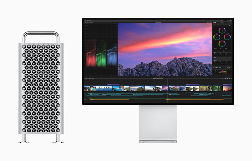 Final Cut Pro X on Pro Display XDR with Mac Pro.