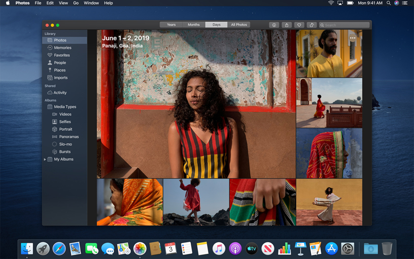 Foto's-app in macOS Catalina.