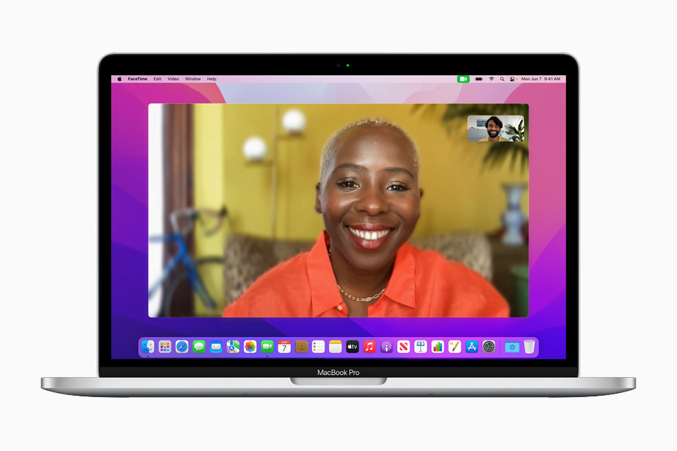 New FaceTime video features displayed on the 13-inch MacBook Pro.