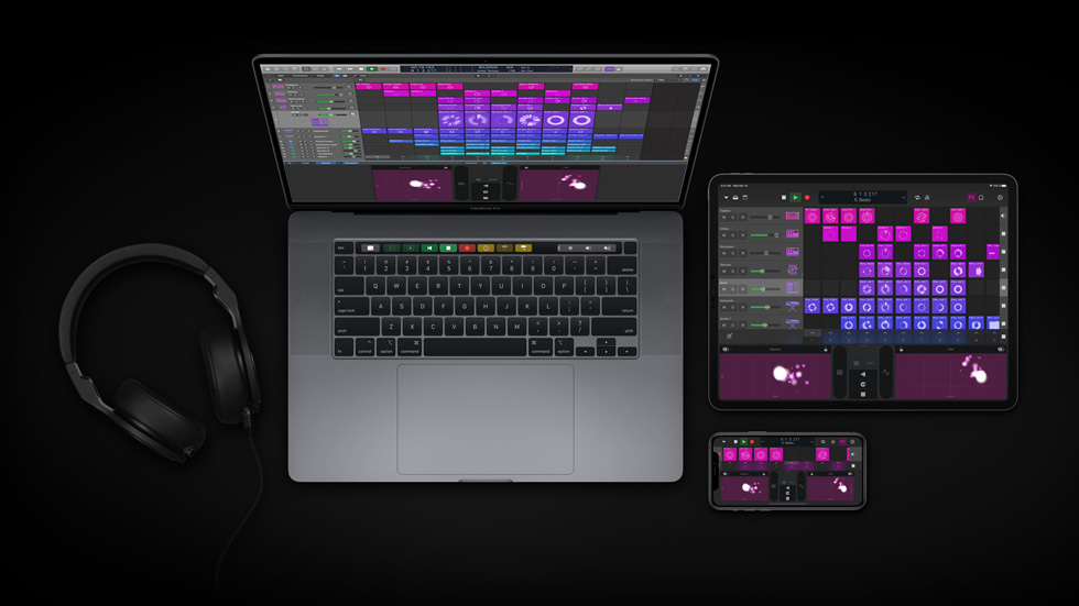Logic Pro su MacBook Pro, iPad Pro e iPhone.