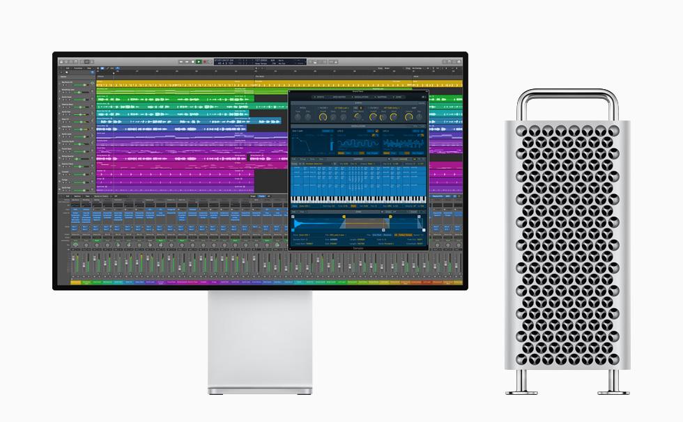 Mac Pro 及 Pro Display XDR 上顯示 Logic Pro X。