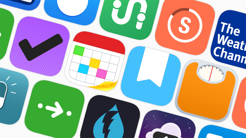 Icons of apps that offer Siri Shortcuts.