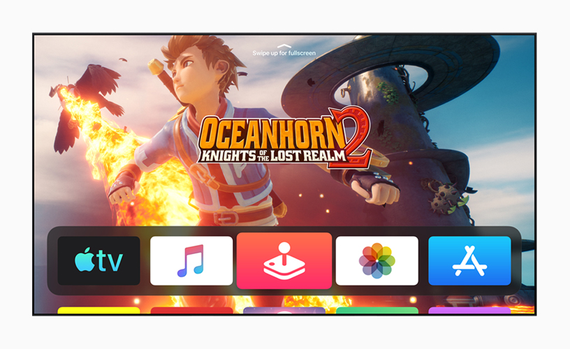 """A still from the """"Oceanhorn 2: Knights of the Lost Realm"""" game in the new immersive tvOS 13."""