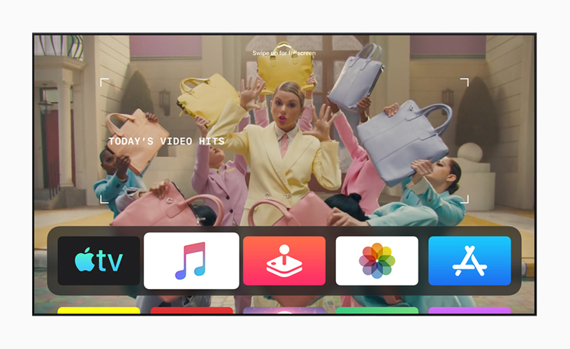 Foto mit den Top-Videos des Tages in Apple Music mit tvOS 13.