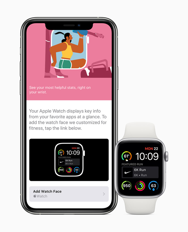 The App Store displayed on iPhone 11 Pro and displayed on Apple Watch Series 5.